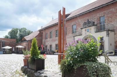 E-Ladesäule auf dem Burghof