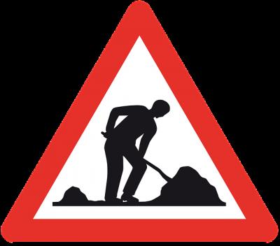 Markierungsarbeiten am neuen Radweg nach Erlangen