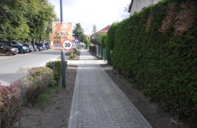 Vorschaubild zur Meldung: 200m Gehweg in der Straße der Einheit fertig gestellt