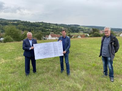 Foto zur Meldung: Baugebiet in Sieglos nimmt Fahrt auf