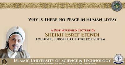 Foto zur Meldung: A Distinguished Lecture by Sheikh Eşref Efendi