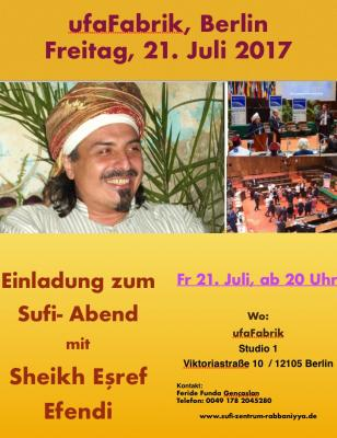 Foto zur Meldung: Sufi Abend in der Ufa Berlin