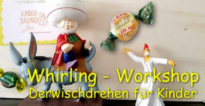Foto zur Meldung: Whirling - Workshop :: Derwischdrehen für Kinder