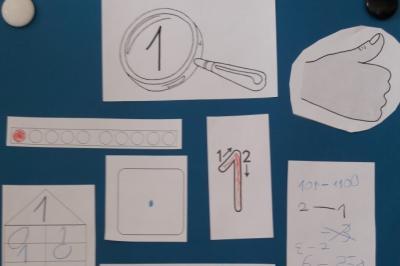 Foto zur Meldung: Klasse 1b: Zahlen unter der Lupe