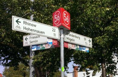 Foto zur Meldung: Radwege-Leitsystem