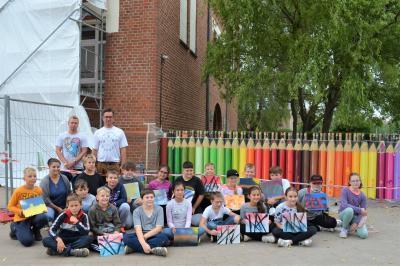 Foto zur Meldung: Street Arts Kunstwerk an der Rolandschule