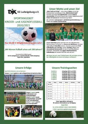 Vorschaubild zur Meldung: Sportangebot Kinder - und Jugendfußball 2020/2021