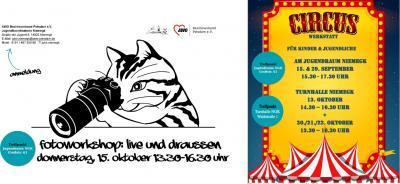 Vorschaubild zur Meldung: JuKo Niemegk: Zirkuswerkstatt und Fotografie Workshop für Kinder und Jugendliche