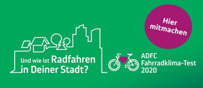 Foto zur Meldung: Mitmachen beim ADFC Fahrradklima-Test 2020