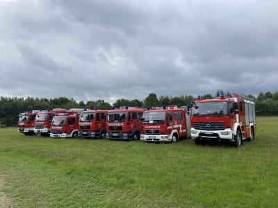 Foto zur Meldung: Amtsfeuerwehrtag 2020 Lürschau - 12.09.2020 - Besuch der Feuerwehren des Amtes Arensharde