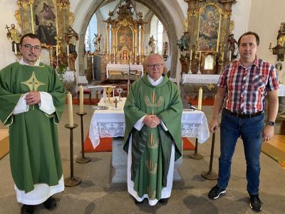 Bild der Meldung: Diakon Martin Peintinger in der Pfarrei begrüßt