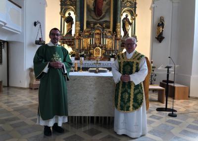 Foto zur Meldung: Diakon Martin Peintinger in der Pfarrei begrüßt
