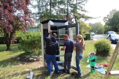 Vorschaubild zur Meldung: Damsdorf hat jetzt eine Schmökerzelle
