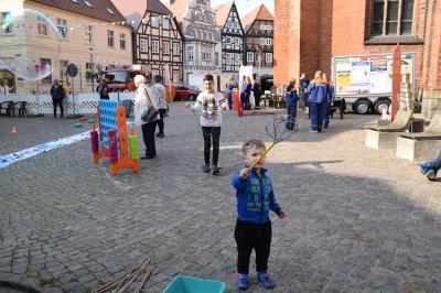 Foto zur Meldung: Rolandtag in Perleberg - die Jugendfeuerwehren waren dabei
