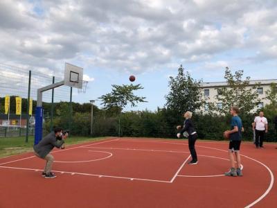 Vorschaubild zur Meldung: Eröffnung der Streetballanlage