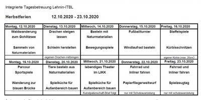 Foto zu Meldung: Tolle ITBL-Pläne für die Herbstferien