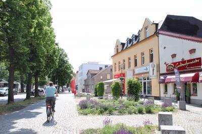 Unser Bild zeigt die Bahnhofstraße im Zentrum.