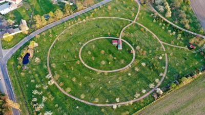 Luftaufnahme Pomologischer Garten