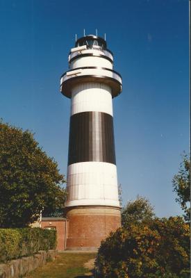 Arbeiten am Leuchtturm Bülk