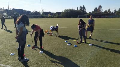 Foto zur Meldung: Golf-Projekt - Abschlag an der Theodor-Andresen-Schule