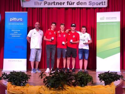 Foto zur Meldung: Ehrung durch Kreissportbund Elbe Elster