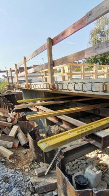 Foto zur Meldung: Neubau der Brücke an der Staatsstraße- Informationen zum Sachstand