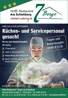 Küchen- und Servicepersonal gesucht
