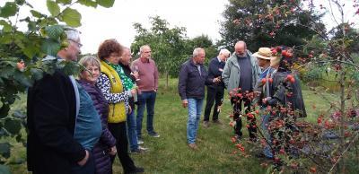 Foto zur Meldung: Kleine Feier im Privatgarten vor der großen im nächsten Jahr: 25 Jahre Freundeskreis Wittstock