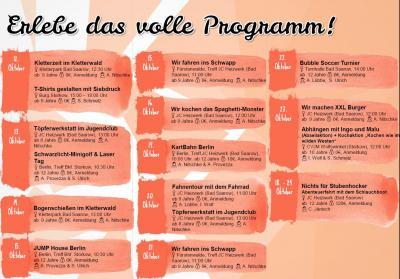 Vorschaubild zur Meldung: Herbstferienprogramm Amt Scharmützelsee / Storkow online