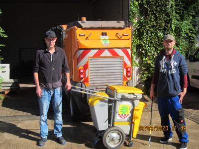 Foto zur Meldung: Neue Mitarbeiter am Baubetriebshof