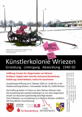 Vorschaubild zur Meldung: Künstlerkolonie Wriezen - Gründung Untergang Abwicklung 1940-50