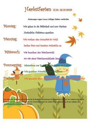 Vorschaubild zur Meldung: Herbstferienprogramm Hort Abenteuerland online