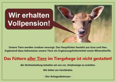 Foto zur Meldung: Füttern der Tiere im Tiergehege im Schlosspark in Lauchhammer-West nicht gestattet
