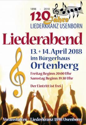 Liederabende für moderne und traditionelle Chormusik im Bürgerhaus Ortenberg