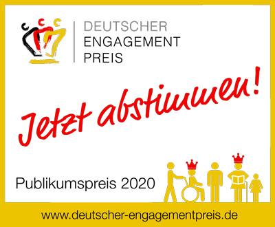 Vorschaubild zur Meldung: Jetzt abstimmen für den Publikumspreis des Deutschen Engagementpreises