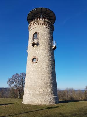 Vorschaubild zur Meldung: Hibu leuchtet! - Info zum Bismarckturm
