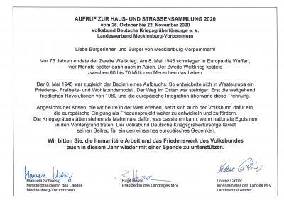 Vorschaubild zur Meldung: Volksbund Deutsche Kriegsgräberfürsorge Straßensammlung