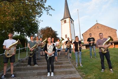 Die Musiker aus Schondra freuen sich auf ihr erstes Konzert nach der Corona-Pause