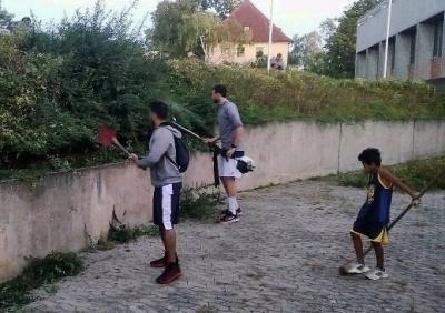Arbeitseinsatz der Basketballer am 18.9.