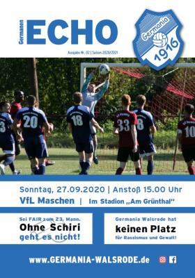 Germanen-Echo Nr.02 - VfL Maschen 27.09.2020