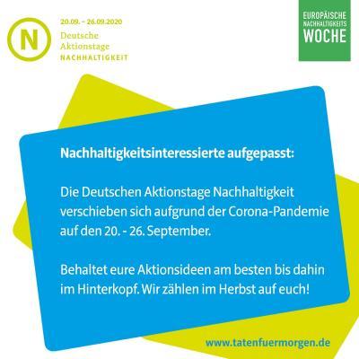 Vorschaubild zur Meldung: Jetzt noch eintragen - DAN 2020: Die Deutschen Aktionstage Nachhaltigkeit
