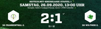 [SGW 2] Einstellung nicht gefunden - bittere Niederlage in Frankenthal