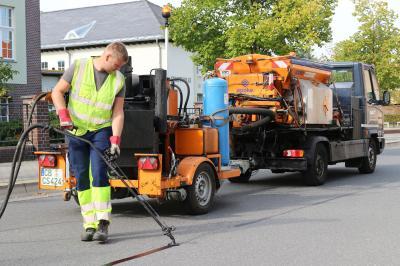 Foto zur Meldung: Straßensanierung in Calau und den Ortsteilen gestartet