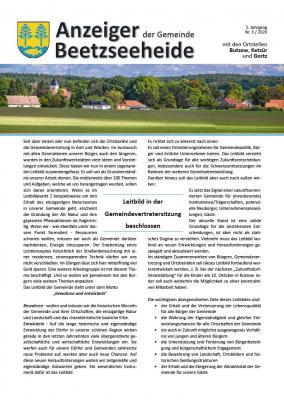 Foto zur Meldung: Anzeiger der Gemeinde Beetzseeheide Ausgabe 03/2020