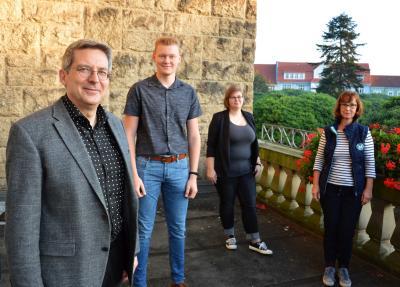 Foto: (v.l.) Dr. Oliver Hermann, Marius Theis, Susann Artelt und Heike Uhde I Foto: Martin Ferch