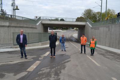Foto zur Meldung: Bahnunterführung eingeweiht