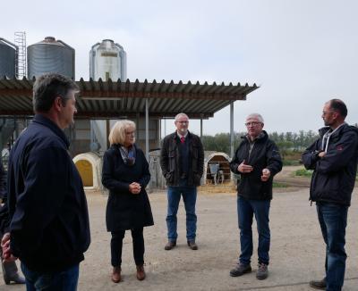 Landratsbesuch 2020 in der Agrargenossenschaft Görsdorf