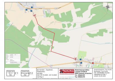 Foto zur Meldung: Vollsperrung der Verbindung zwischen Oppelhain und Gorden