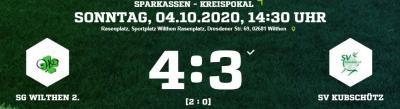 Vorschaubild zur Meldung: [SGW 2] Sensation im Pokal gegen Kubschütz - aber leider teuer erkauft