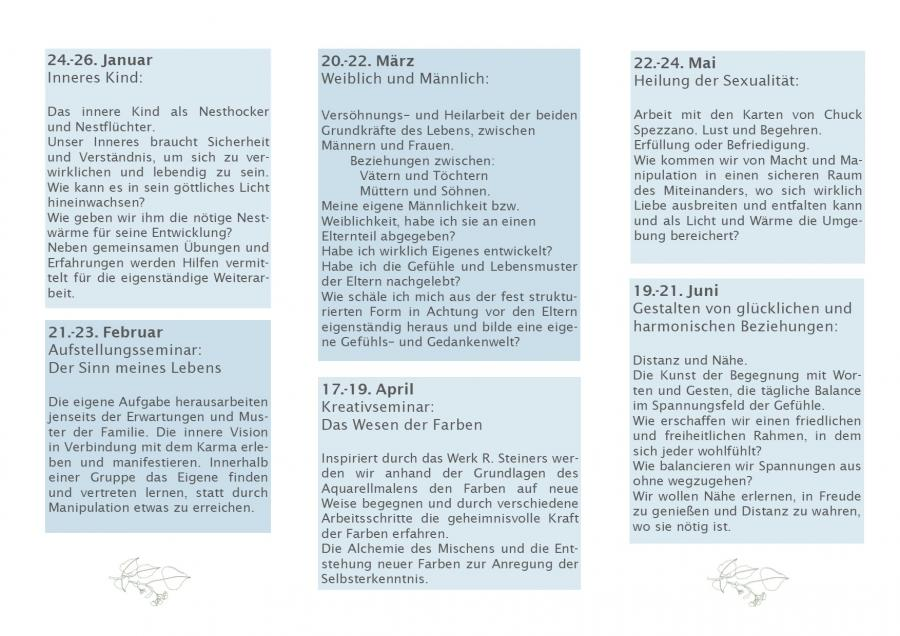 Seminarplan 1.HJ 2